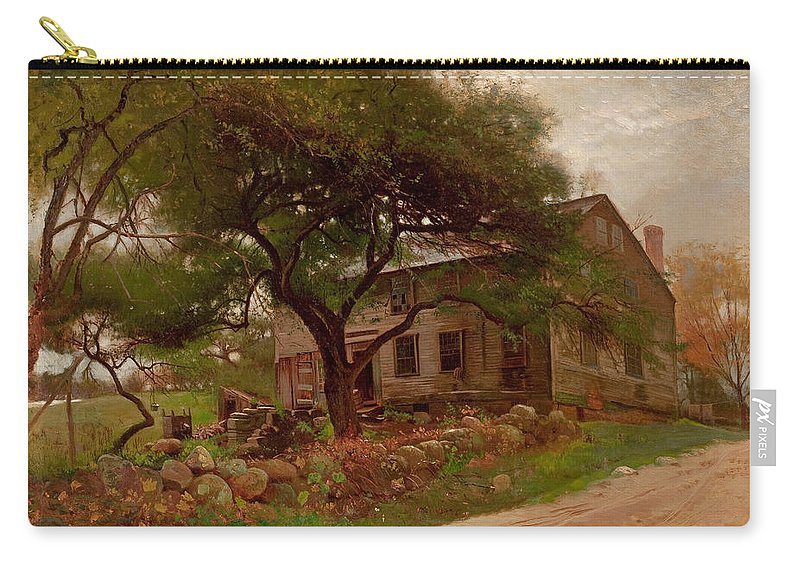 Arthur Parton Carry-all Pouch featuring the painting Old Farm House In The Catskills by Arthur Parton