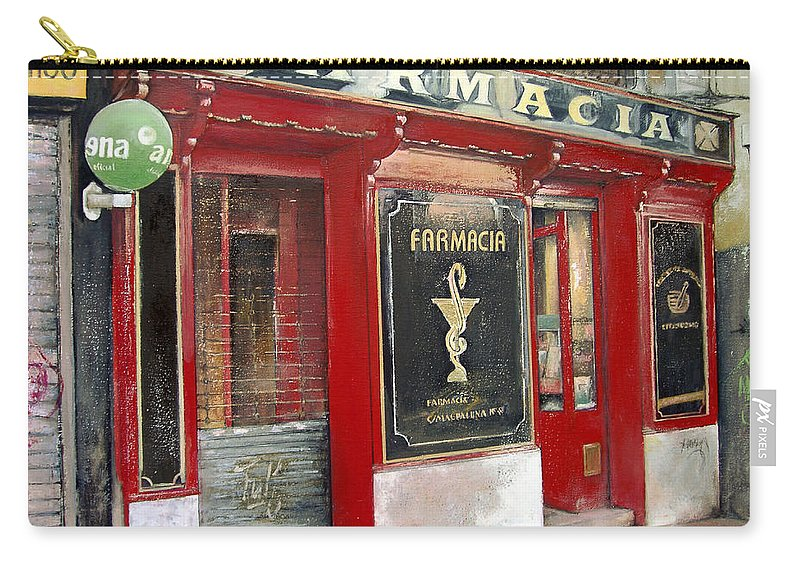 Farmacia Carry-all Pouch featuring the painting Old Pharmacy by Tomas Castano