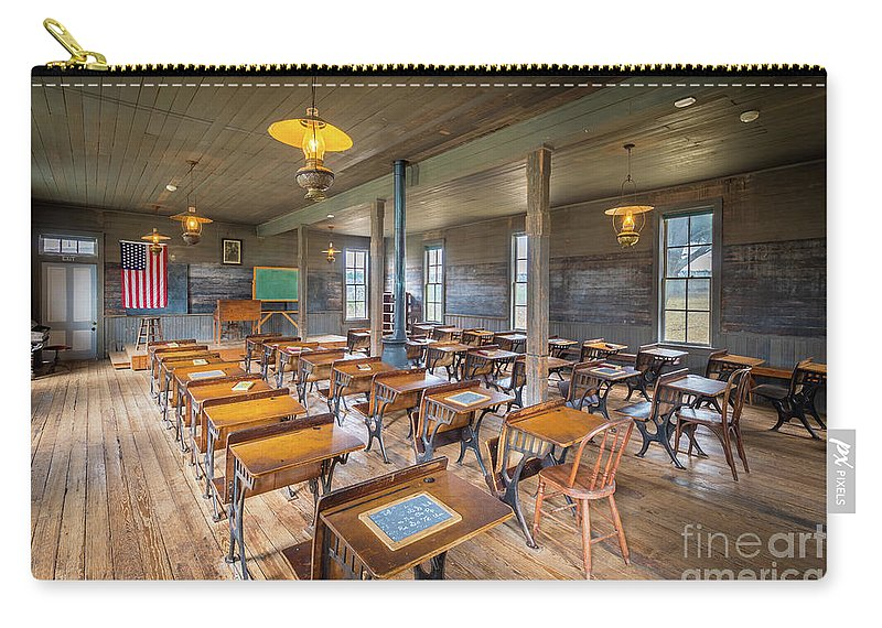 America Carry-all Pouch featuring the photograph Old Schoolroom by Inge Johnsson