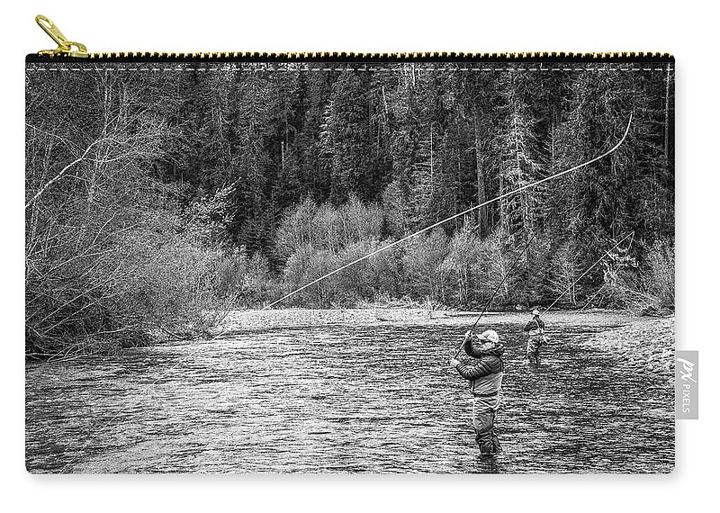 Flyfishing Carry-all Pouch featuring the photograph On the River by Jason Brooks