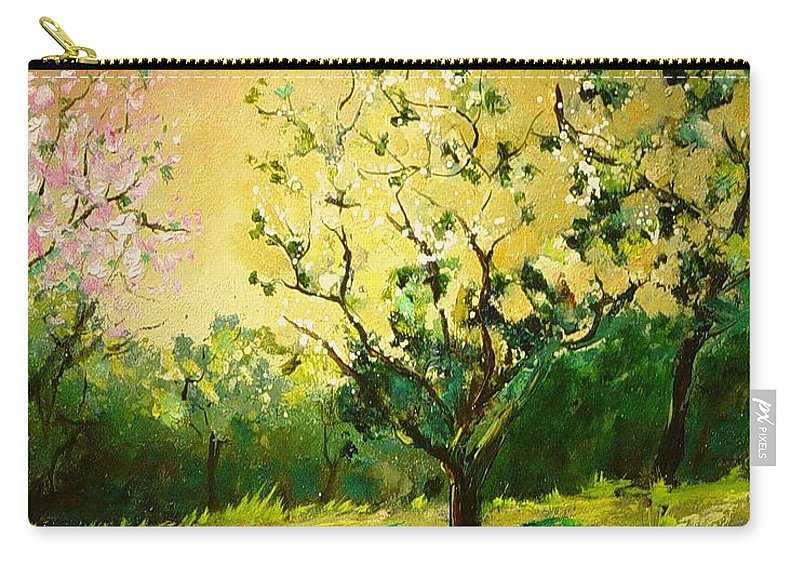 Spring Carry-all Pouch featuring the painting Orchard 45 by Pol Ledent