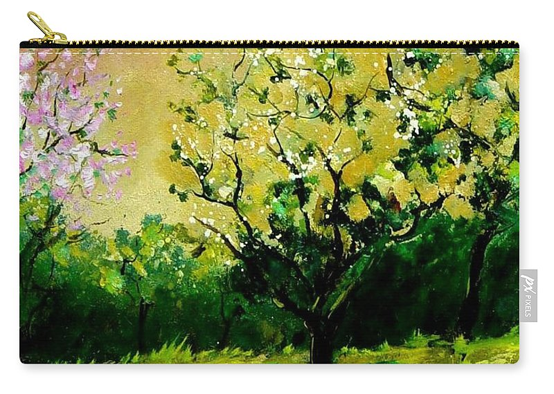 Landscape Carry-all Pouch featuring the painting Orchard by Pol Ledent
