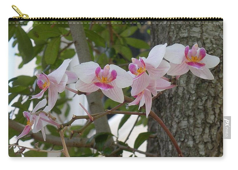 Carry-all Pouch featuring the photograph Orchid Bunch by Maria Bonnier-Perez