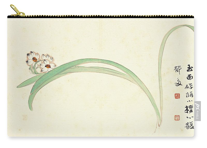 Orchid Carry-all Pouch featuring the painting Orchid by Zhang Daqian