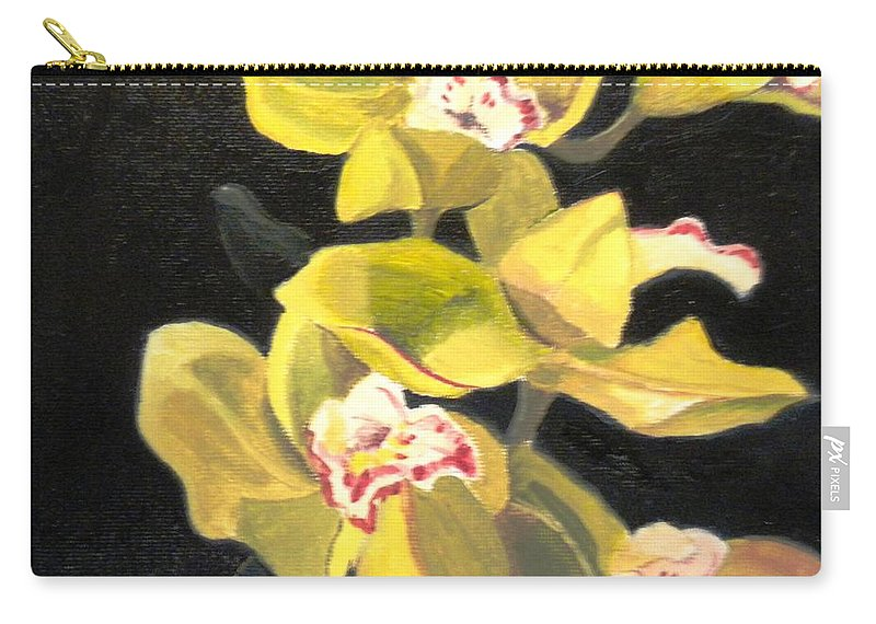 Flowers Carry-all Pouch featuring the painting Orchids by Maralyn Miller