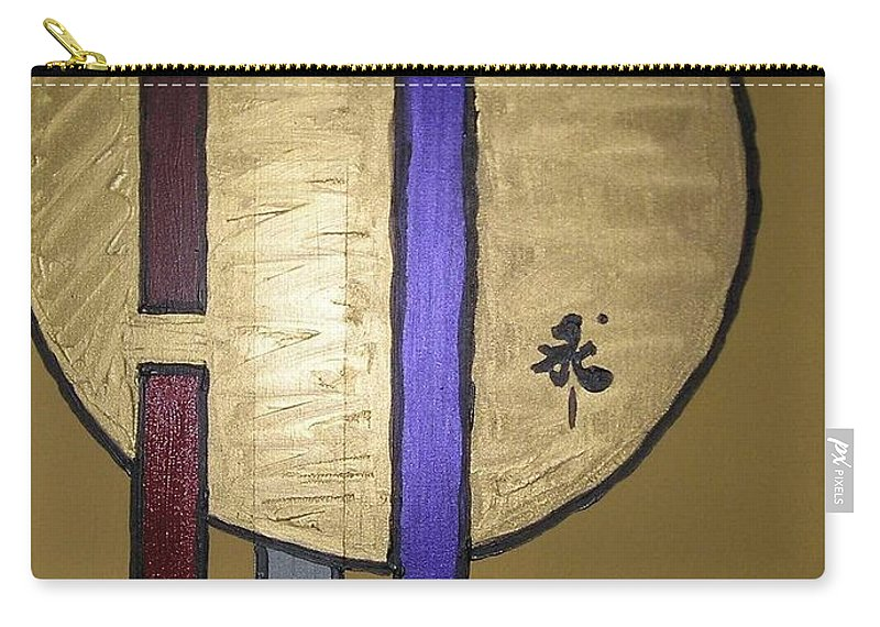 Red Carry-all Pouch featuring the painting Oro by Maria Bonnier-Perez