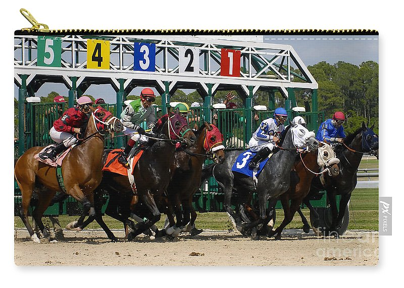 Fine Art Photography Carry-all Pouch featuring the photograph Out Of The Gate by David Lee Thompson