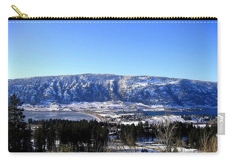 Oyama Isthmus Carry-all Pouch featuring the photograph Oyama Isthmus by Will Borden