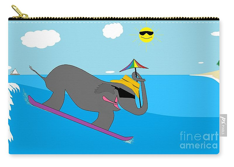 For Children Carry-all Pouch featuring the digital art Surf Paddy by Rick Maxwell