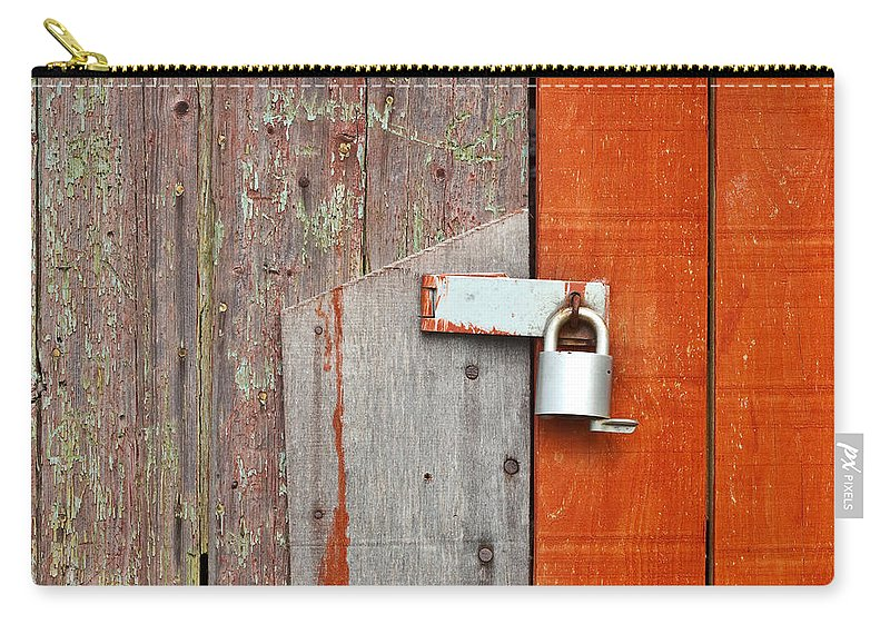 Background Carry-all Pouch featuring the photograph Padlock by Tom Gowanlock