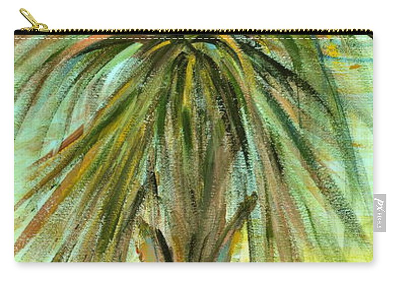 Tree Carry-all Pouch featuring the painting Palm Tree by Nadine Rippelmeyer