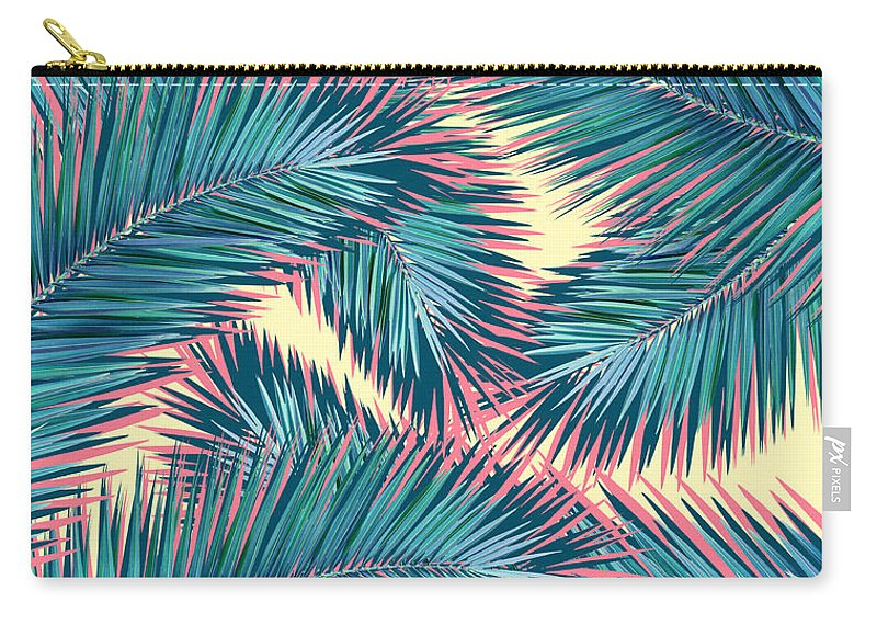 Palm Trees Carry-all Pouch featuring the digital art Hello Summer by Mark Ashkenazi