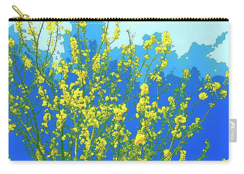 Palo Verde Carry-all Pouch featuring the mixed media Palo Verde Spring by Dominic Piperata