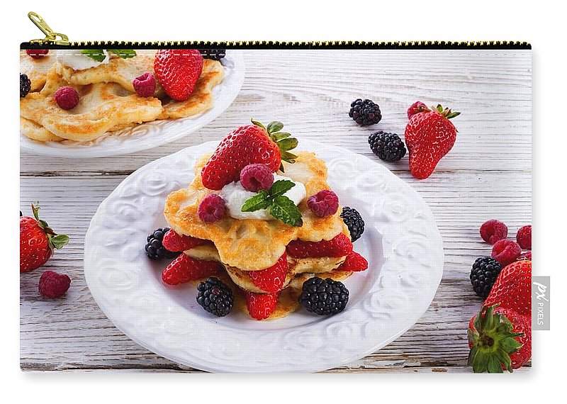 Pancake Carry-all Pouch featuring the digital art Pancake by Dorothy Binder