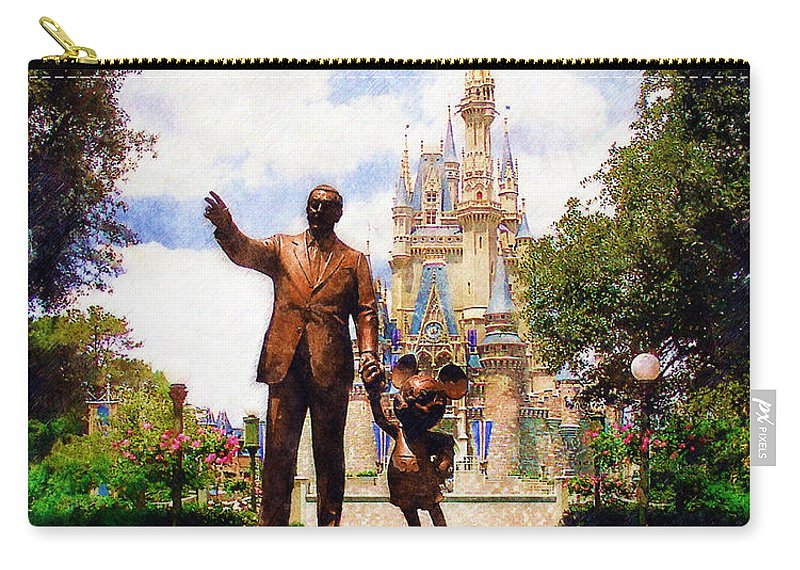 Disney Carry-all Pouch featuring the digital art Partners by Sandy MacGowan