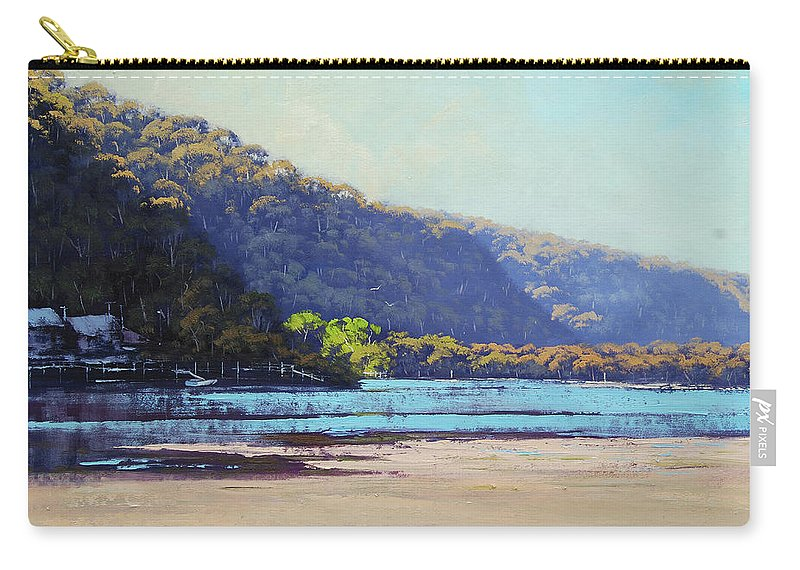 Nature Carry-all Pouch featuring the painting Patonga Creek by Graham Gercken
