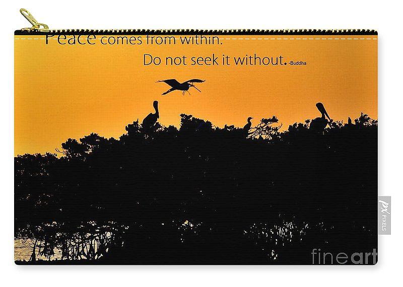 Peace Carry-all Pouch featuring the photograph Peace by Lisa Renee Ludlum