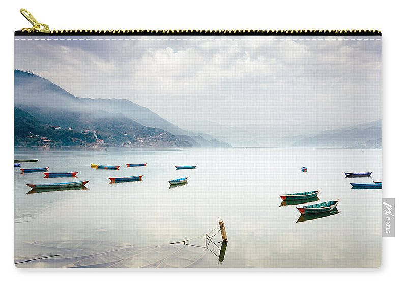 Nepal Carry-all Pouch featuring the photograph Phewa Lake In Pokhara, Nepal by Dutourdumonde Photography