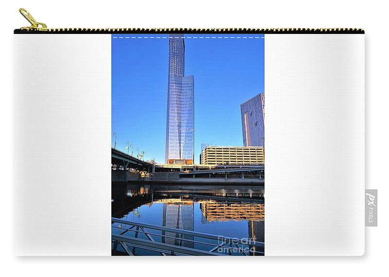Philadelphia Carry-all Pouch featuring the photograph Philly Over The Schuylkill by Merle Grenz