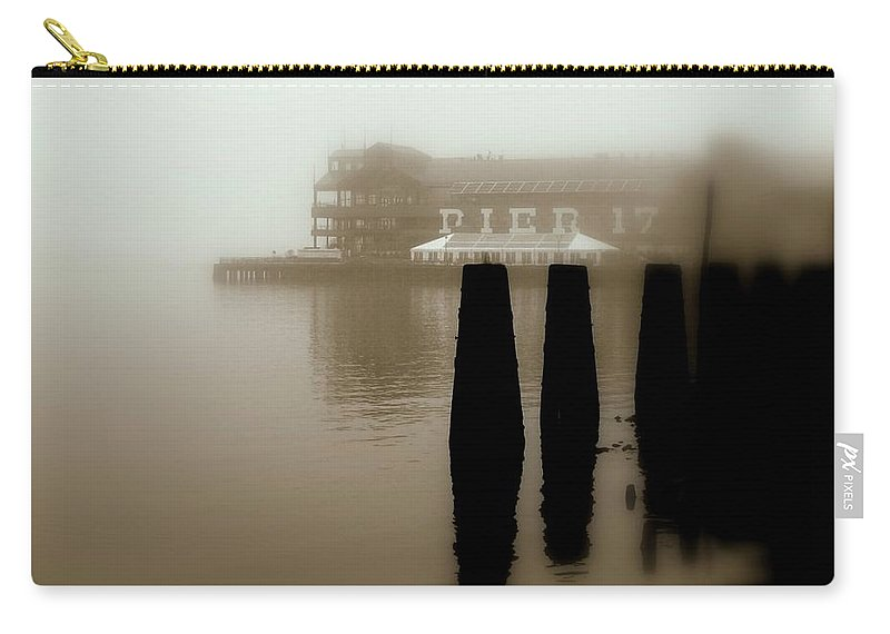 New York Carry-all Pouch featuring the photograph Pier 17 by Jeff Watts