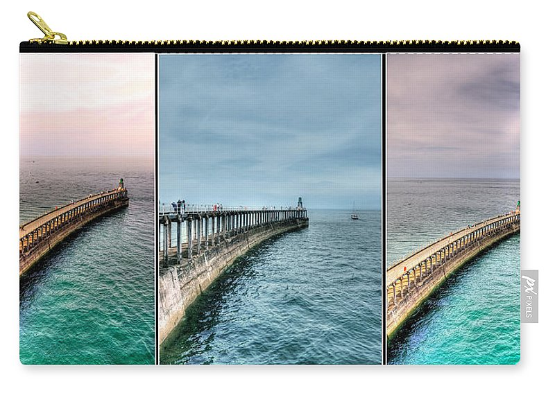 Aqua Carry-all Pouch featuring the photograph Pier by Svetlana Sewell