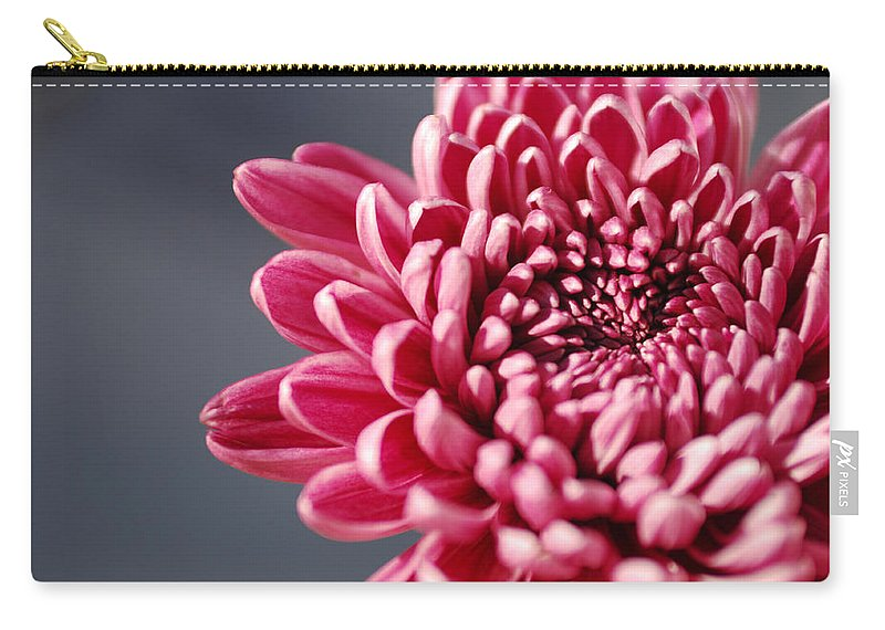 Flower Carry-all Pouch featuring the photograph Pink Flower by Jill Reger