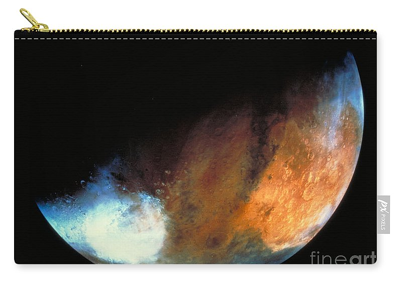 Astronomy Carry-all Pouch featuring the photograph Planet Mars by Nasa
