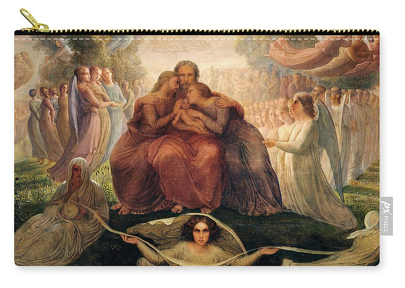 Poem Of The Soul Carry-all Pouch featuring the painting Poem Of The Soul - The Ideal by Louis Janmot