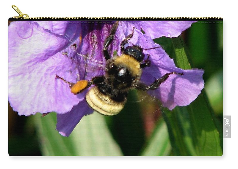 Pollination Carry-all Pouch featuring the photograph Pollination 2 by J M Farris Photography