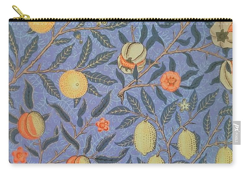 Artistic Carry-all Pouch featuring the painting Pomegranate by William Morris