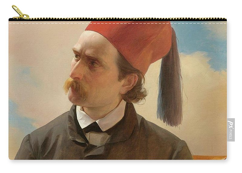 French School Carry-all Pouch featuring the painting Portrait Of A Scholar by MotionAge Designs