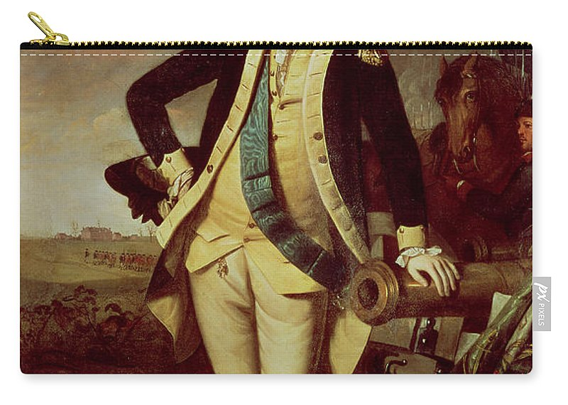 Portrait Carry-all Pouch featuring the painting Portrait Of George Washington 1 by Charles Willson Peale