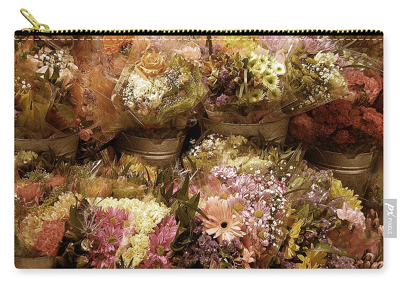 Flowers Carry-all Pouch featuring the photograph Potpourri by Jessica Jenney