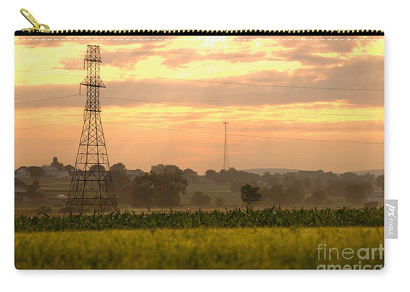 Lancaster Carry-all Pouch featuring the photograph Power Lines by George Mattei