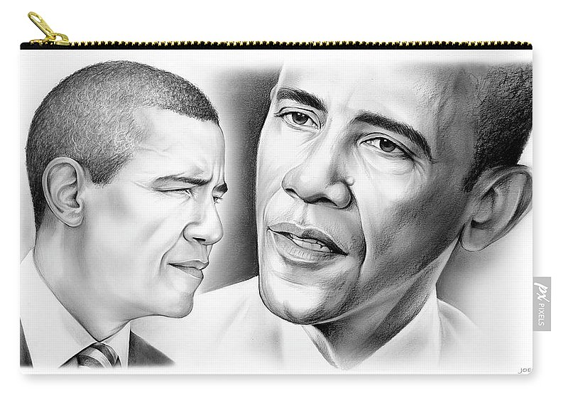President Carry-all Pouch featuring the drawing President Barack Obama by Greg Joens