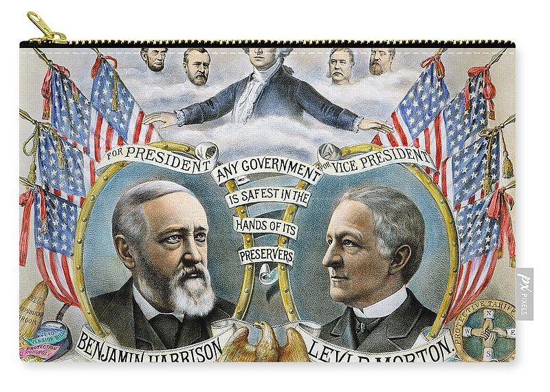 1888 Carry-all Pouch featuring the photograph Presidential Campaign, 1888 by Granger