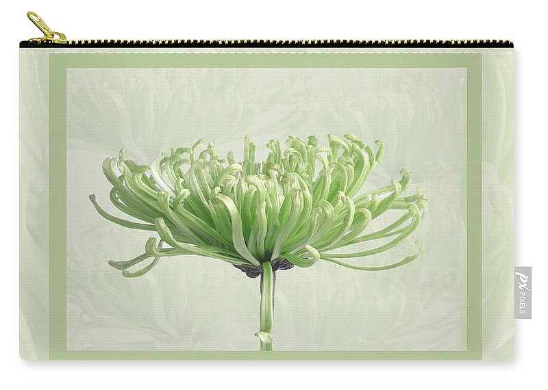 Flower Carry-all Pouch featuring the photograph Pretty In Green by Eleanor Bortnick