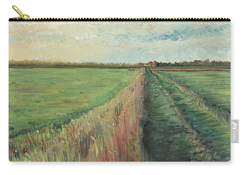Provence Carry-all Pouch featuring the painting Provence Villa by Nadine Rippelmeyer