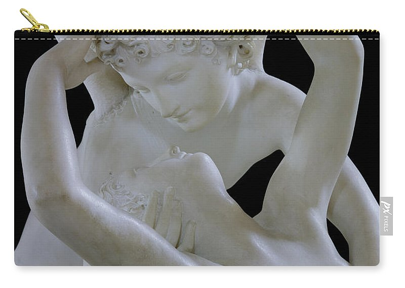 Psyche Carry-all Pouch featuring the photograph Psyche Revived By The Kiss Of Cupid by Antonio Canova