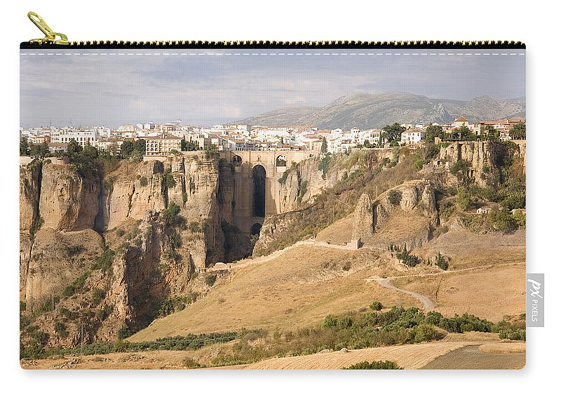 Ronda Carry-all Pouch featuring the photograph Puente Nuevo Tajo De Ronda Andalucia Spain Europe by Mal Bray