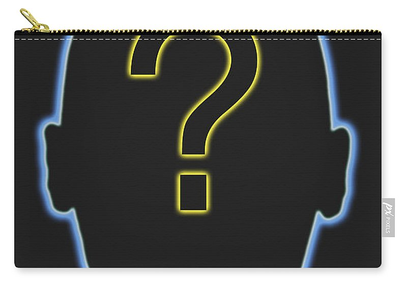 Symbol Carry-all Pouch featuring the photograph Question Mark by George Mattei