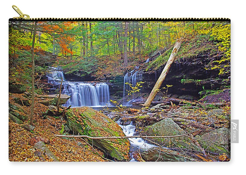 Pennsylvania Carry-all Pouch featuring the photograph R B Ricketts Falls In Autumn by Rich Walter