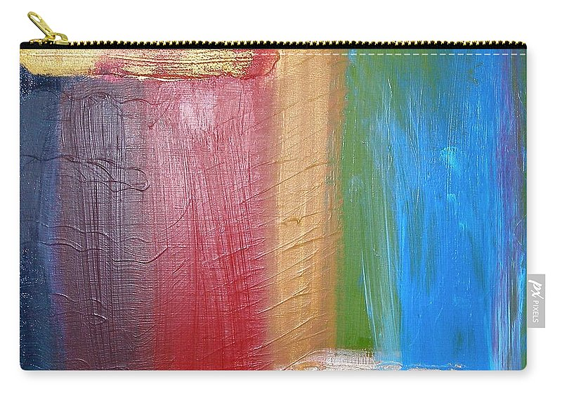Rainbow Carry-all Pouch featuring the painting Radiance by Maria Bonnier-Perez