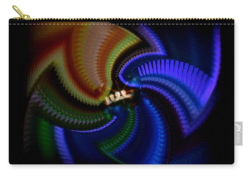Chaos Carry-all Pouch featuring the painting Rainbow by Charles Stuart