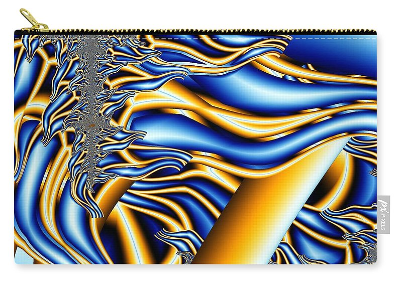 Fractal Art Carry-all Pouch featuring the digital art Reaching Out by Ron Bissett