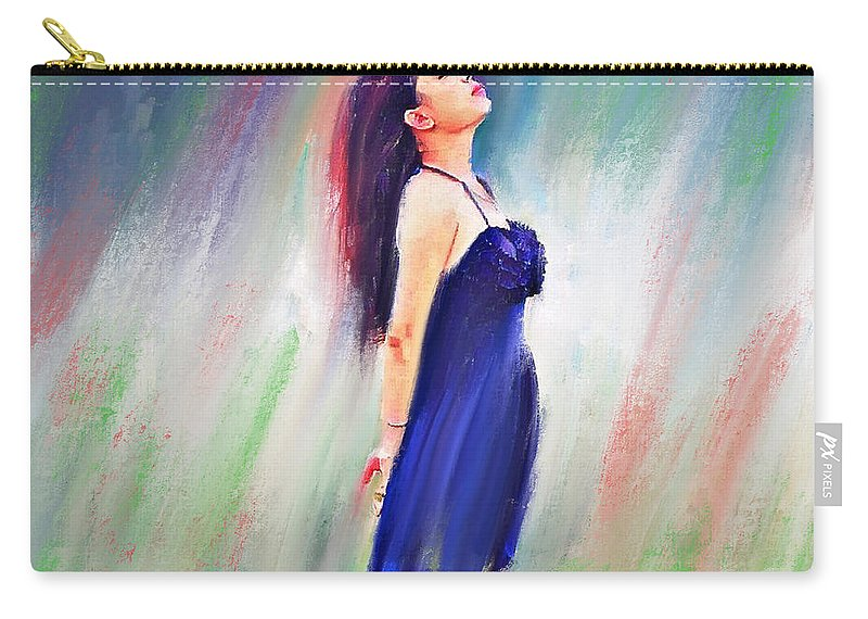Cute Carry-all Pouch featuring the digital art Ready To Fly by Yury Malkov