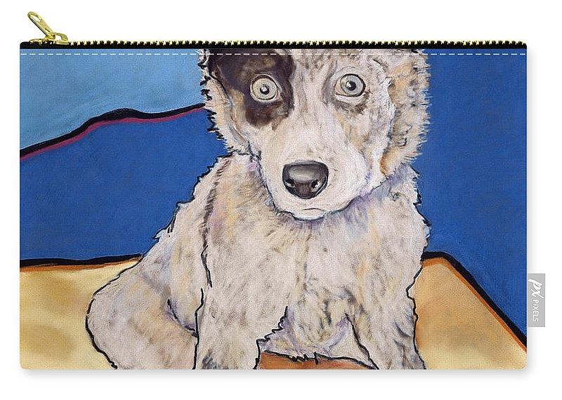 Aussie Carry-all Pouch featuring the painting Reba Rae by Pat Saunders-White