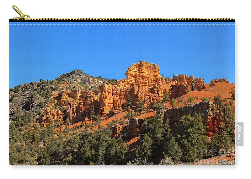 Red Canyon Carry-all Pouch featuring the photograph Red Canyon by Robert Bales