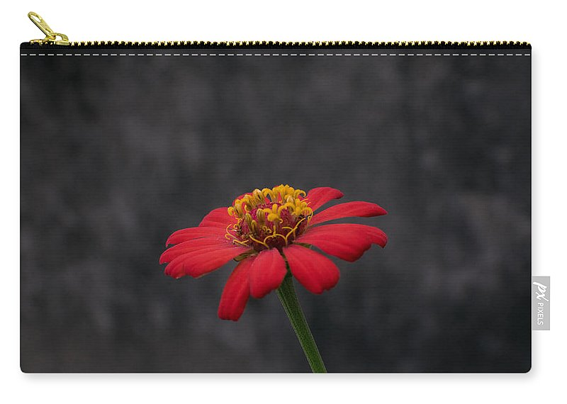 Orange Carry-all Pouch featuring the photograph Red Flower 1 by Totto Ponce