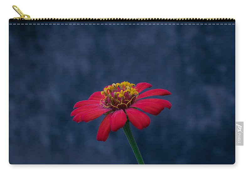 Orange Carry-all Pouch featuring the photograph Red Flower 2 by Totto Ponce